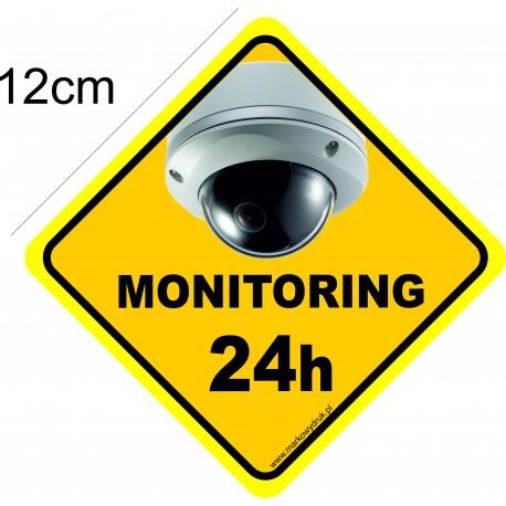 Naklejka - obiekt monitorowany - wzór 001