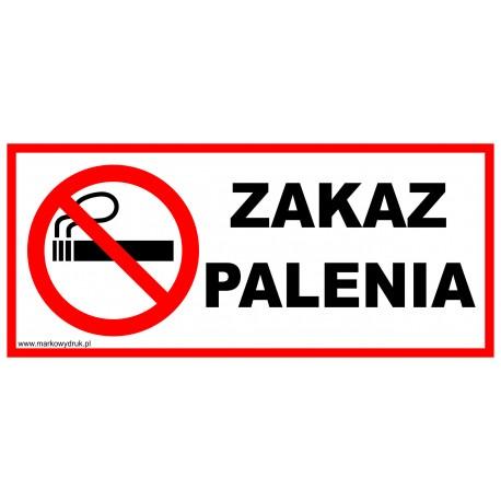 Naklejka 22x10cm - zakaz palenia